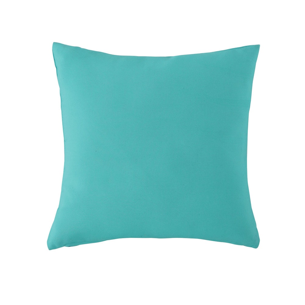 coussin d 39 ext rieur bleu turquoise 50 x 50 cm maisons du monde. Black Bedroom Furniture Sets. Home Design Ideas