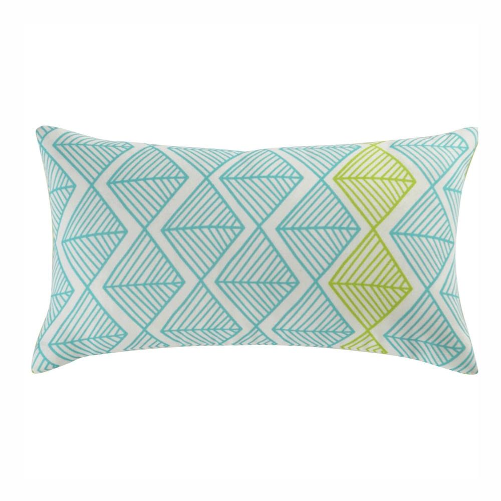 coussin d 39 ext rieur bleu vert 25 x 45 cm jacara maisons du monde. Black Bedroom Furniture Sets. Home Design Ideas