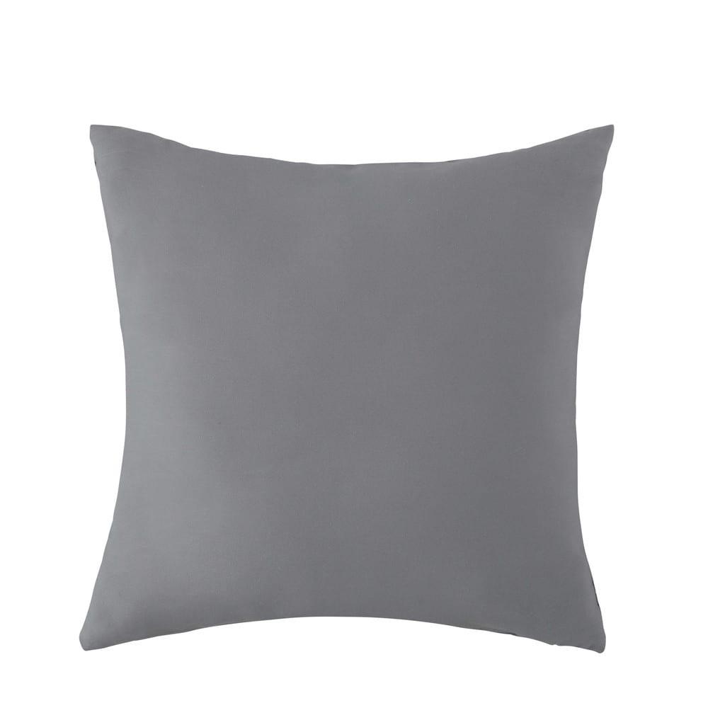 coussin d 39 ext rieur gris 50 x 50 cm maisons du monde. Black Bedroom Furniture Sets. Home Design Ideas
