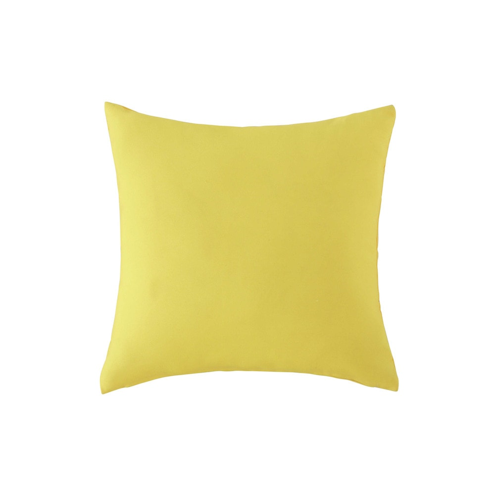coussin d 39 ext rieur jaune 40 x 40 cm maisons du monde. Black Bedroom Furniture Sets. Home Design Ideas