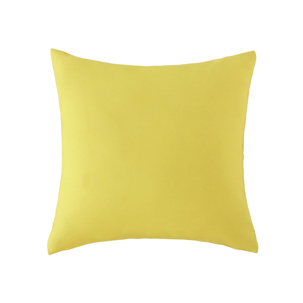 coussin d 39 ext rieur jaune 50 x 50 cm maisons du monde. Black Bedroom Furniture Sets. Home Design Ideas