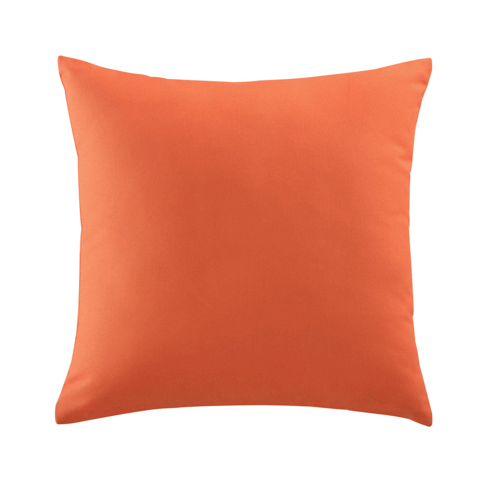 coussin d 39 ext rieur orange 50 x 50 cm maisons du monde. Black Bedroom Furniture Sets. Home Design Ideas
