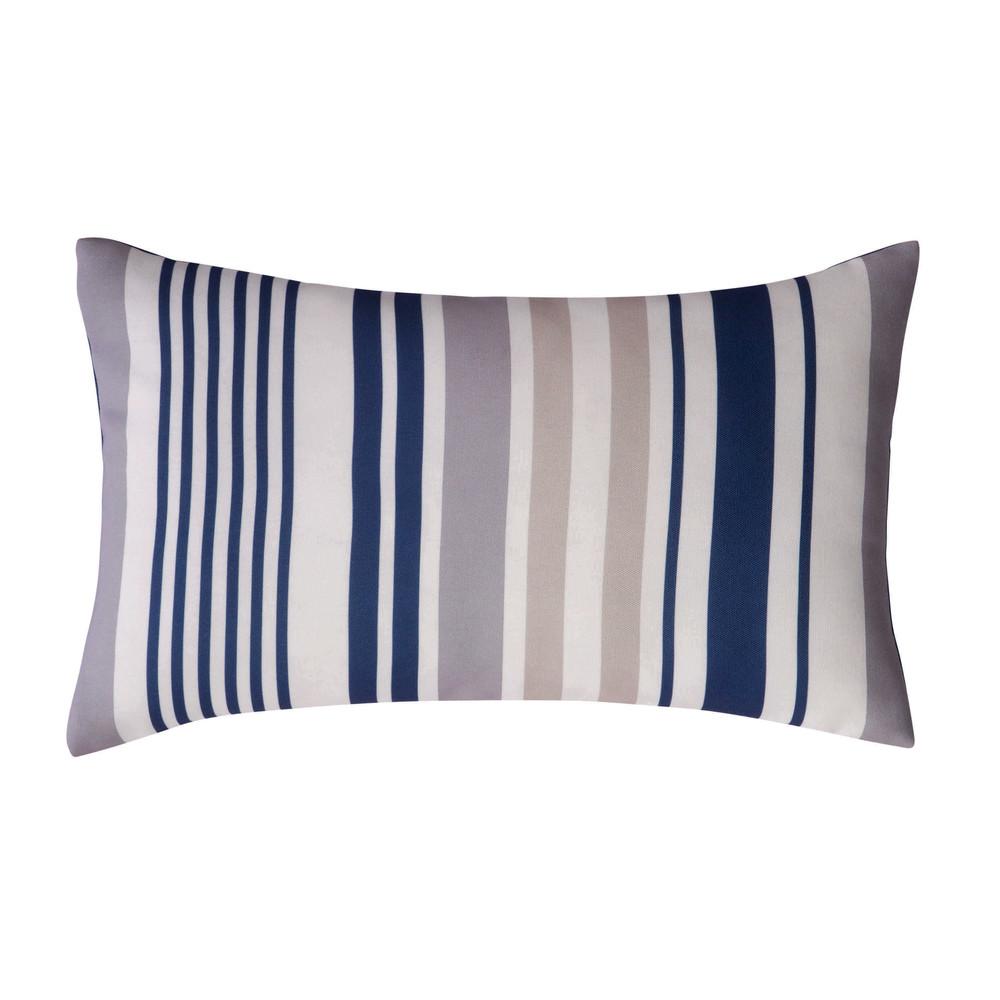 coussin d 39 ext rieur ray bleu 30 x 50 cm ol ron maisons. Black Bedroom Furniture Sets. Home Design Ideas