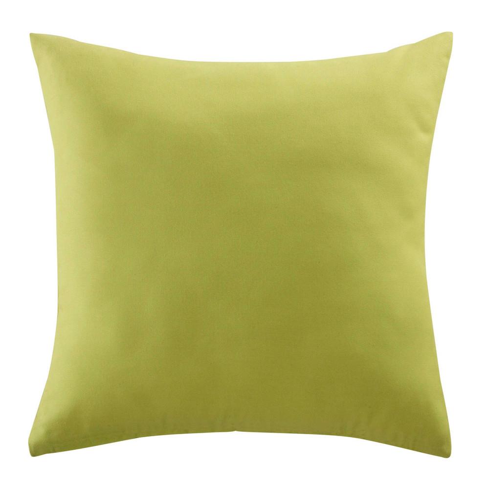 coussin d 39 ext rieur vert 40 x 40 cm maisons du monde. Black Bedroom Furniture Sets. Home Design Ideas
