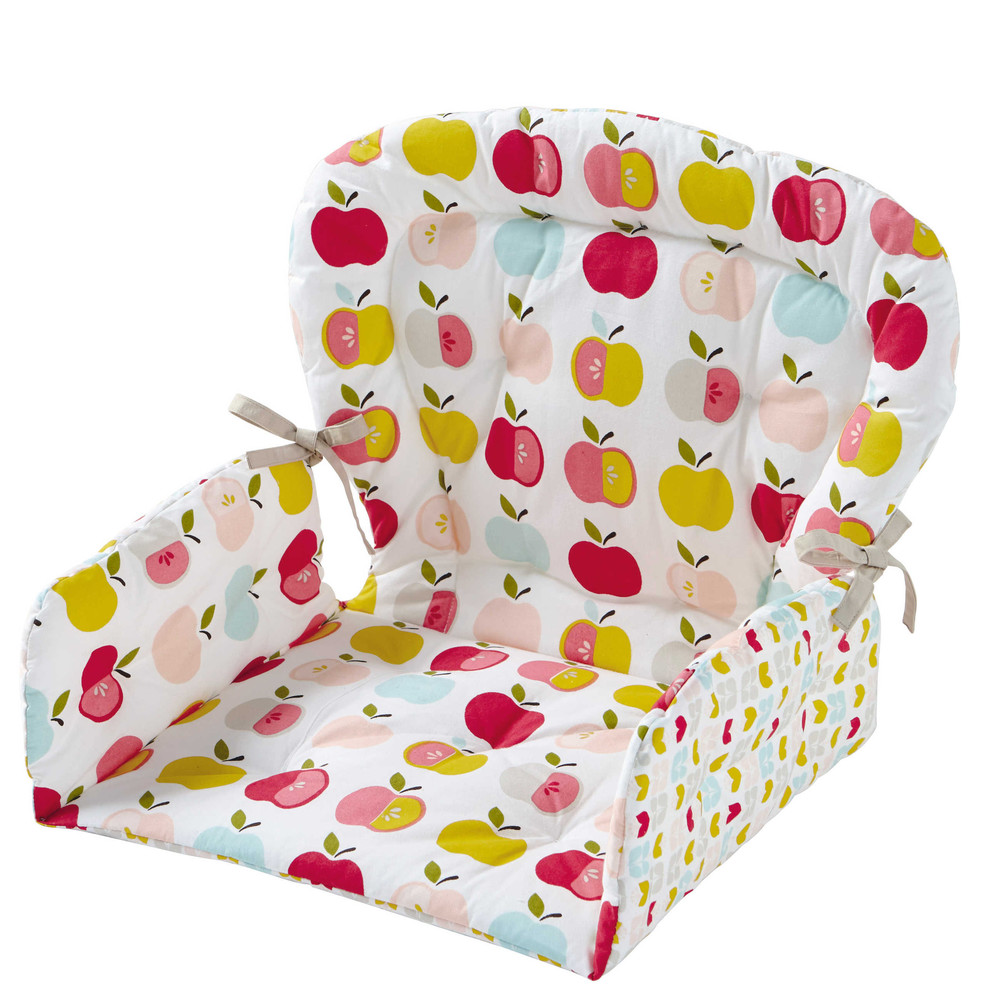 Coussin de chaise haute pour b b en coton 25 x 30 cm for Coussin de chaise haute
