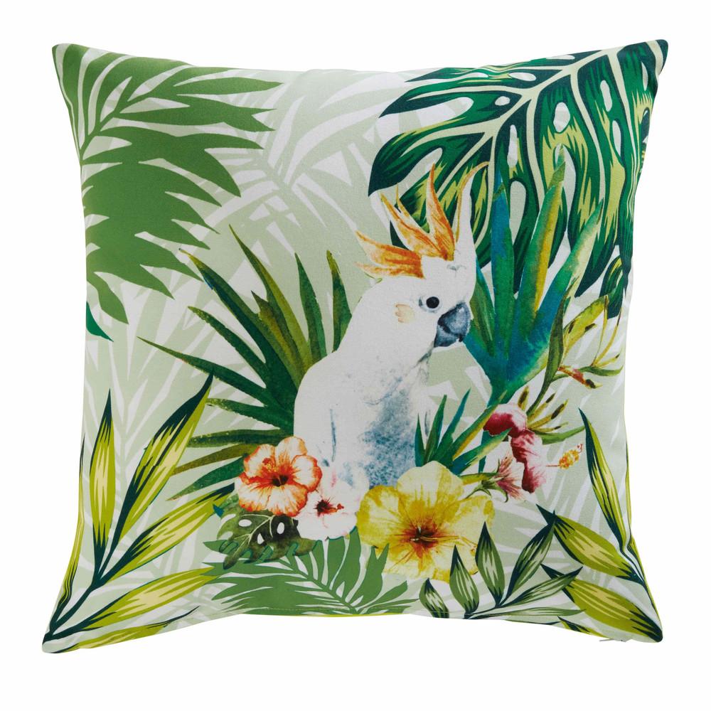 coussin de jardin en tissu imprim tropical 45x45cm. Black Bedroom Furniture Sets. Home Design Ideas