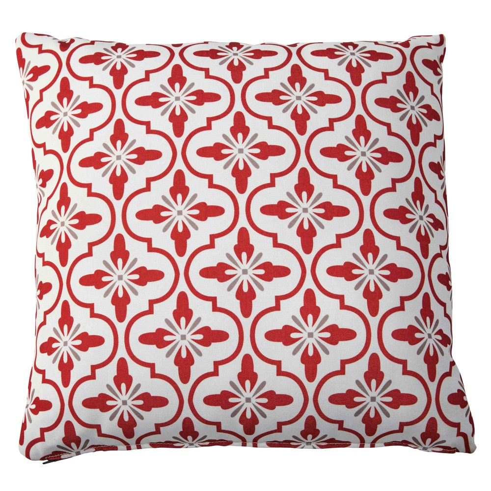 Coussin de jardin en tissu motifs tricolores 45x45cm adour maisons du monde - Maison du tissu ...