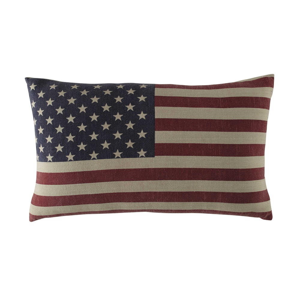 coussin drapeau am ricain en coton 40 x 60 cm usa maisons du monde. Black Bedroom Furniture Sets. Home Design Ideas