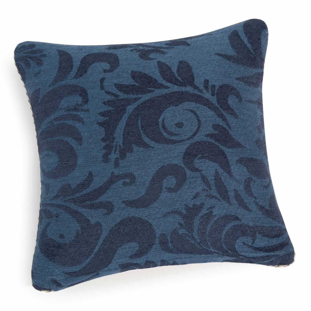 coussin en coton bleu 50 x 50 cm holborn maisons du monde. Black Bedroom Furniture Sets. Home Design Ideas