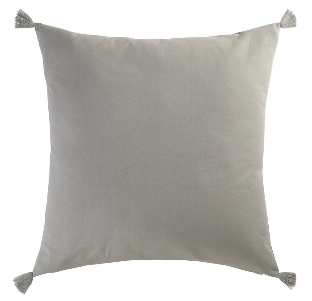 Coussin en coton gris 60 x 60 cm mocarda maisons du monde - Coussin matelas 60 x 60 ...