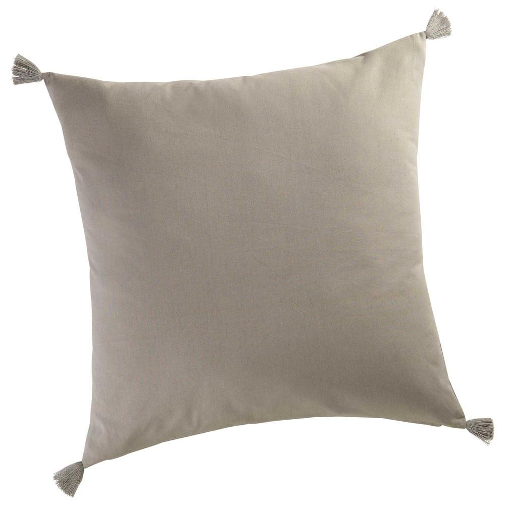 coussin en coton gris 60 x 60 cm mocarda maisons du monde coussin canape gris sncast