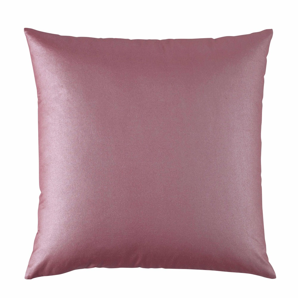 coussin en coton rose 50 x 50 cm beverly maisons du monde. Black Bedroom Furniture Sets. Home Design Ideas