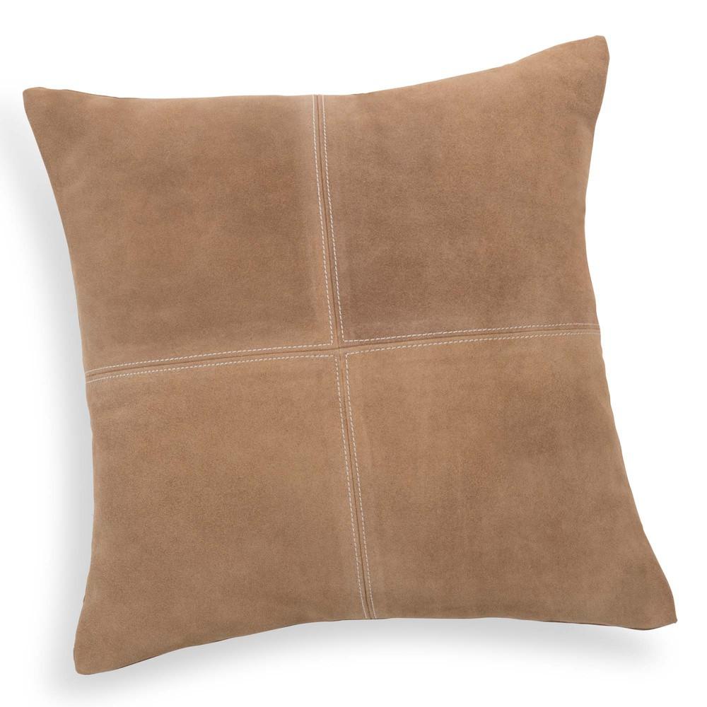 coussin en cuir beige 40 x 40 cm holstein maisons du monde. Black Bedroom Furniture Sets. Home Design Ideas