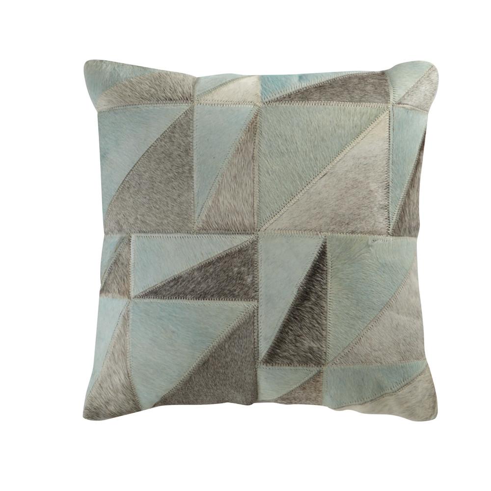 coussin en cuir bleu 45 x 45 cm oscope maisons du monde. Black Bedroom Furniture Sets. Home Design Ideas