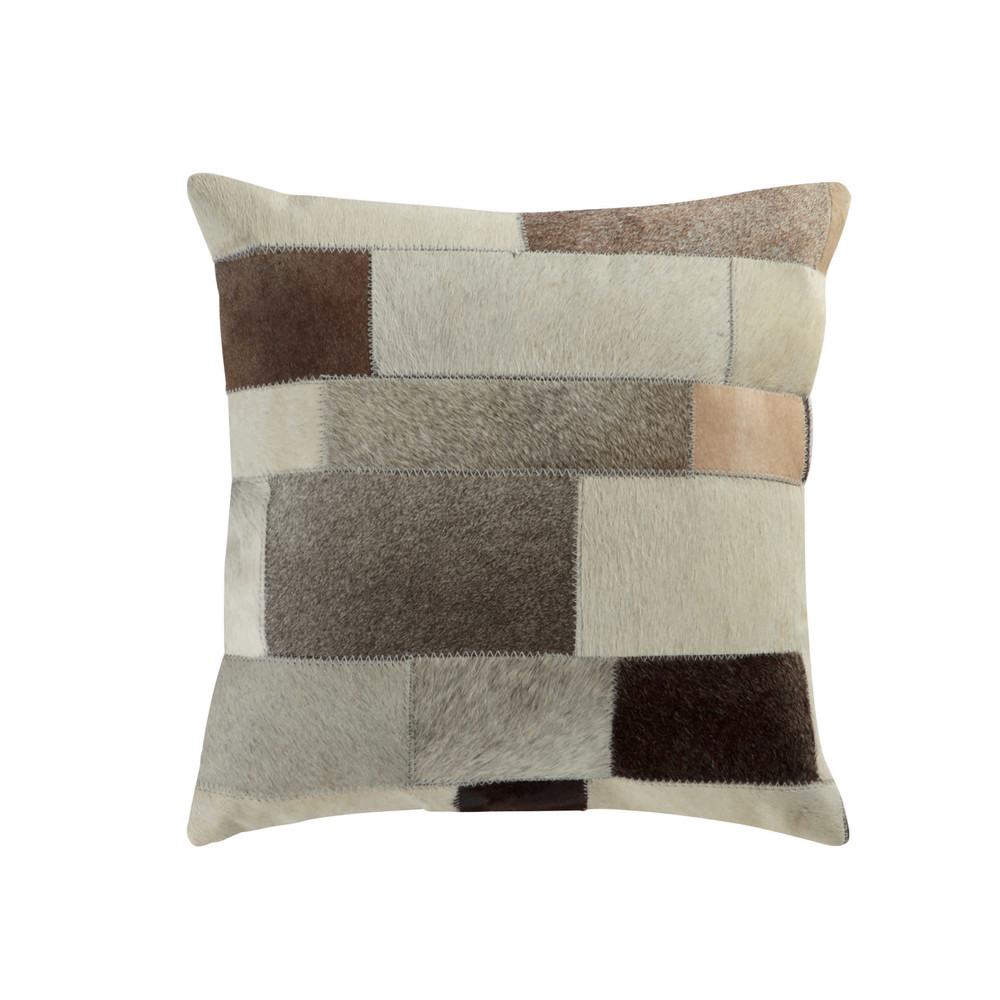 coussin en cuir et coton beige 40 x 40 cm arty maisons. Black Bedroom Furniture Sets. Home Design Ideas