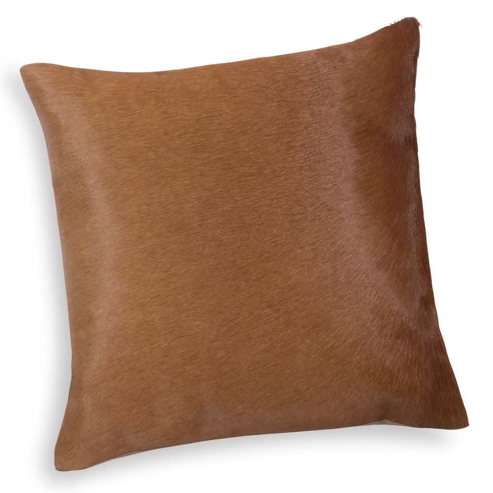coussin en cuir marron 40 x 40 cm yssel maisons du monde. Black Bedroom Furniture Sets. Home Design Ideas