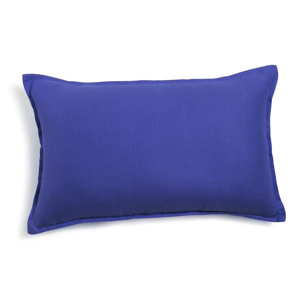 coussin en lin lav bleu 30 x 50 cm maisons du monde. Black Bedroom Furniture Sets. Home Design Ideas