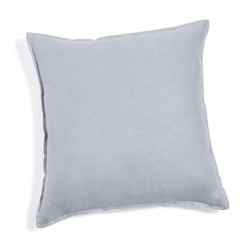coussin en lin lav bleu nuage 45x45 maisons du monde. Black Bedroom Furniture Sets. Home Design Ideas
