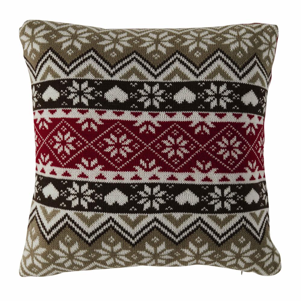 coussin en maille tricot e 45 x 45 cm calinda maisons du monde. Black Bedroom Furniture Sets. Home Design Ideas