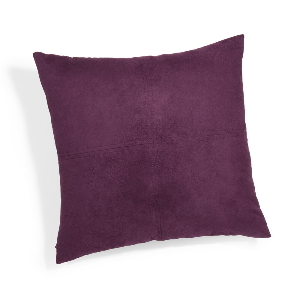 coussin en su dine violet 40 x 40 cm maisons du monde. Black Bedroom Furniture Sets. Home Design Ideas