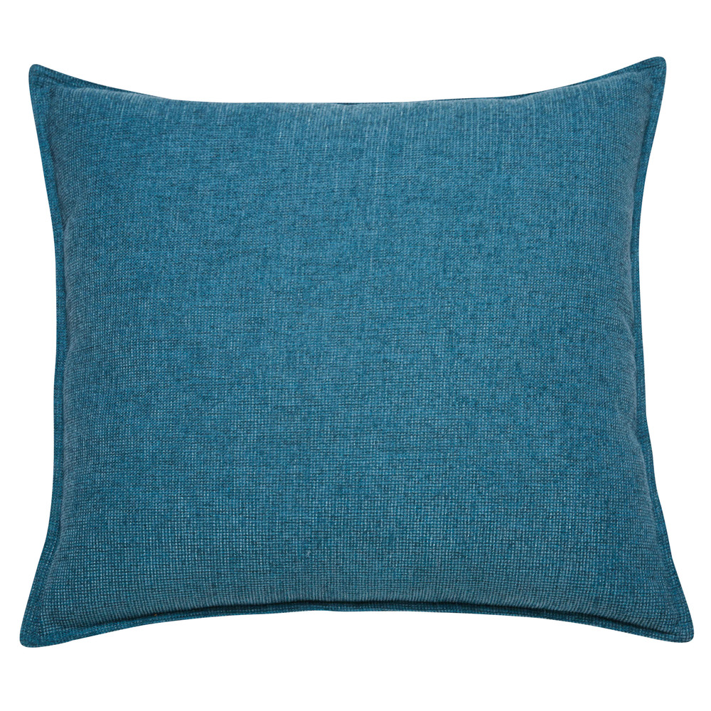 coussin en tissu bleu cobalt 60x60cm chenille maisons du monde. Black Bedroom Furniture Sets. Home Design Ideas