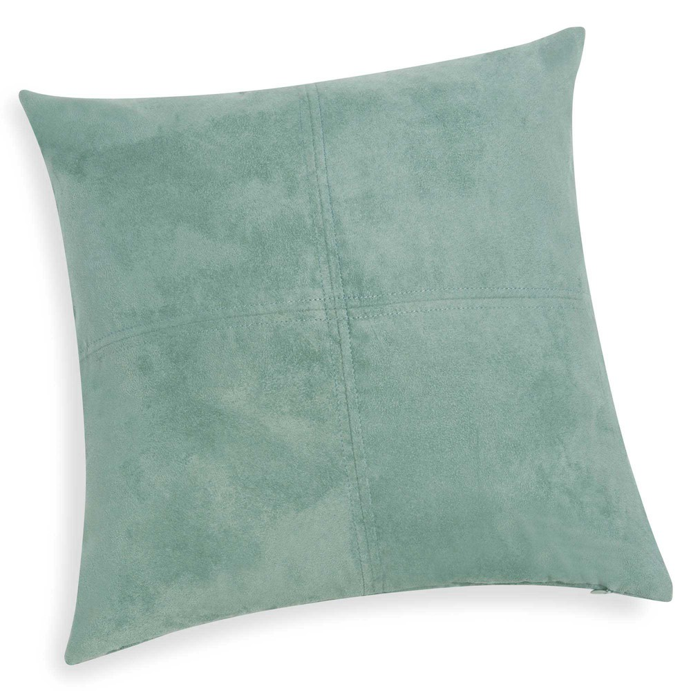 coussin en tissu bleu vert 40x40 swedine maisons du monde. Black Bedroom Furniture Sets. Home Design Ideas