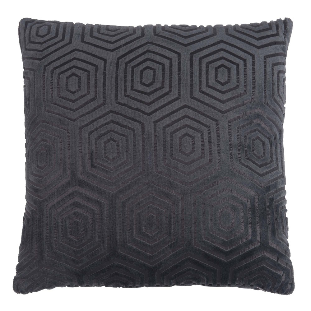 coussin en tissu gris anthracite motifs maisons du monde. Black Bedroom Furniture Sets. Home Design Ideas