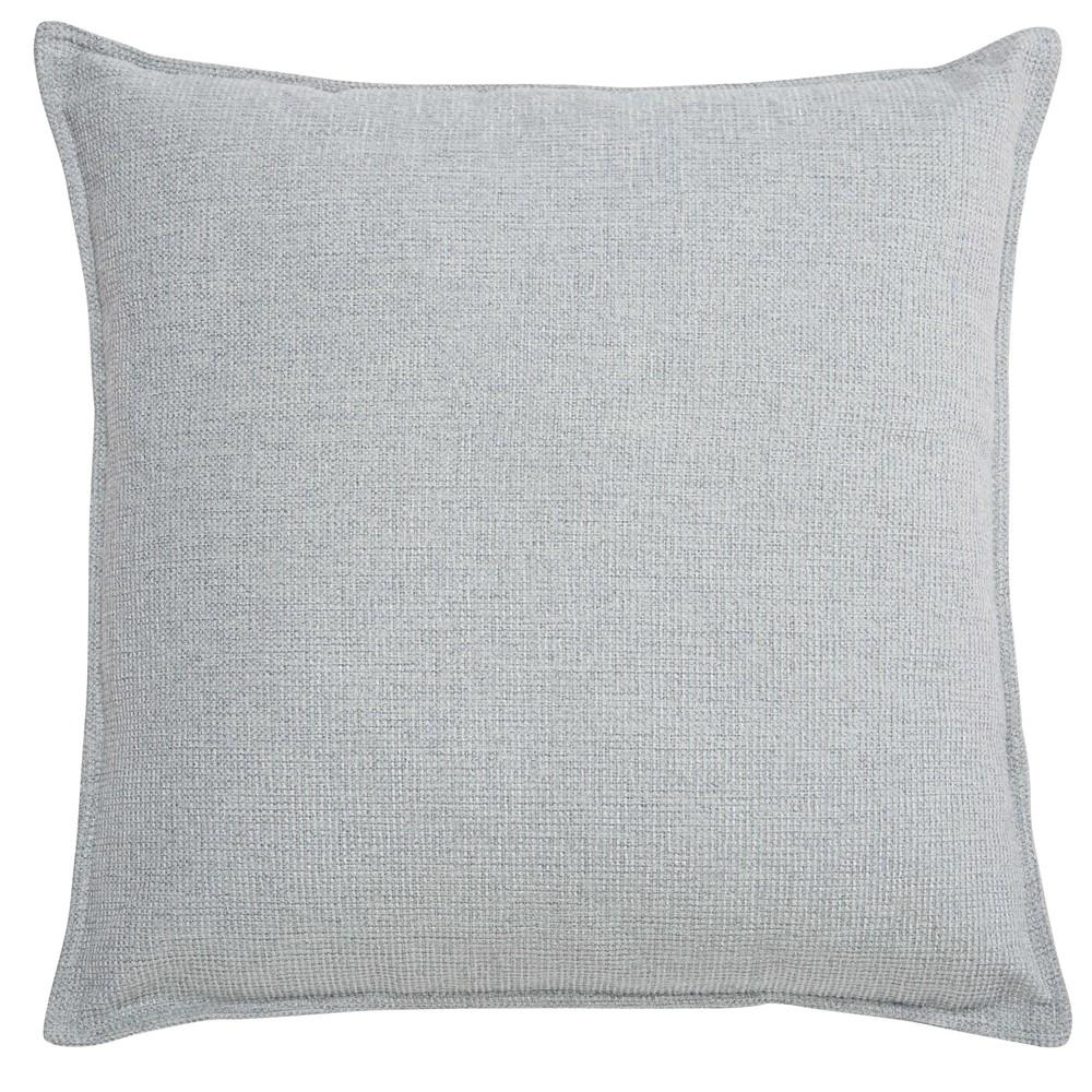 coussin en tissu gris clair 45x45cm chenille maisons du. Black Bedroom Furniture Sets. Home Design Ideas