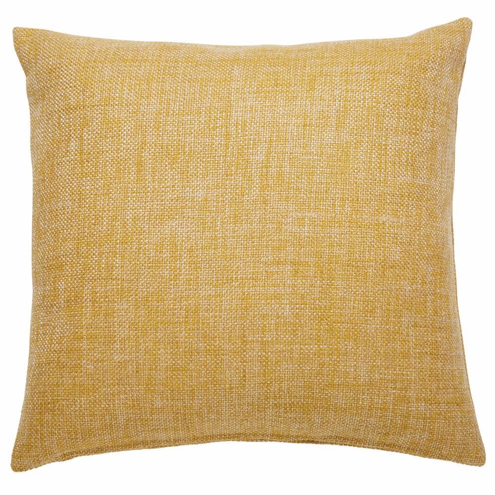 coussin en tissu jaune 45x45cm andy maisons du monde. Black Bedroom Furniture Sets. Home Design Ideas