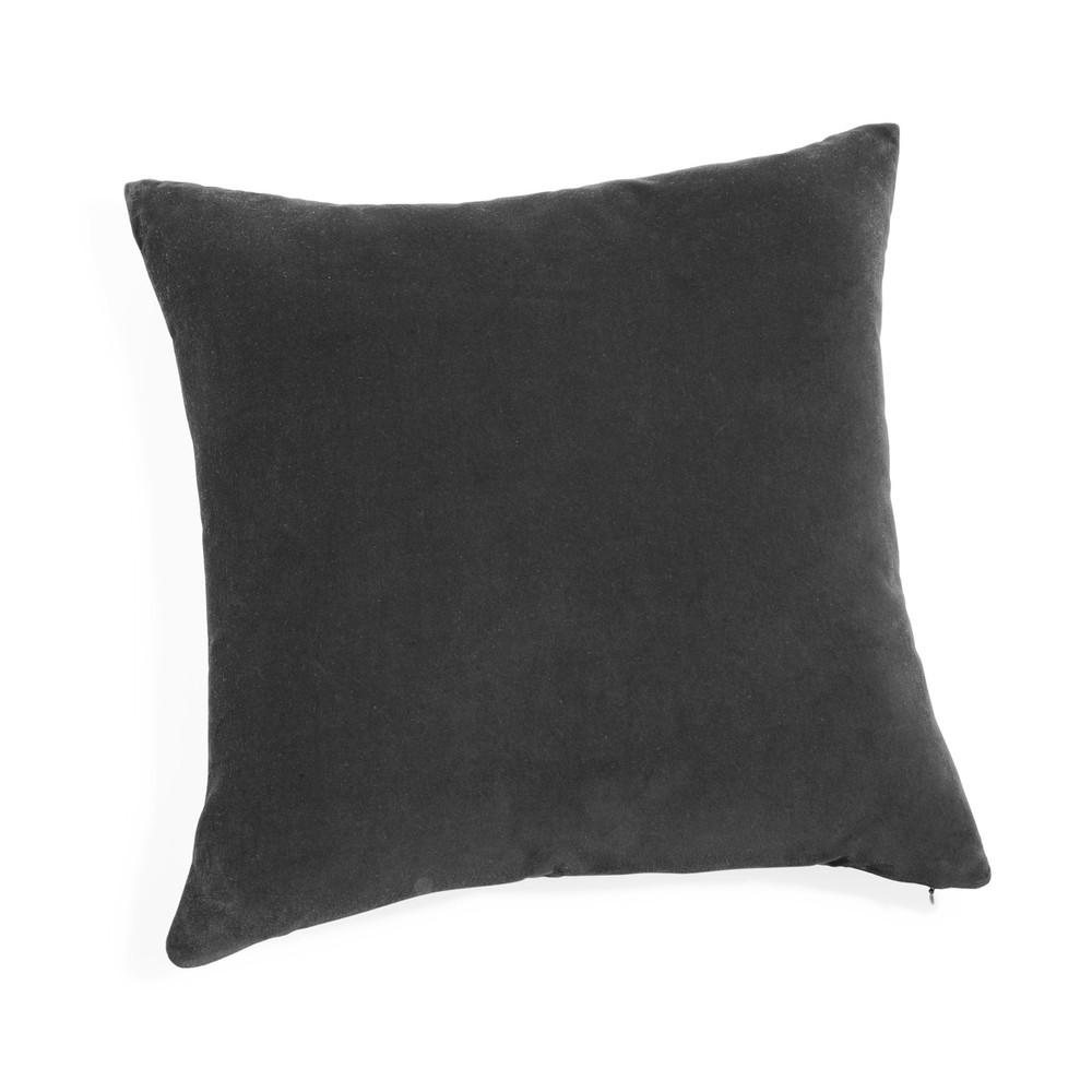 coussin en velours anthracite 45 x 45 cm maisons du monde. Black Bedroom Furniture Sets. Home Design Ideas