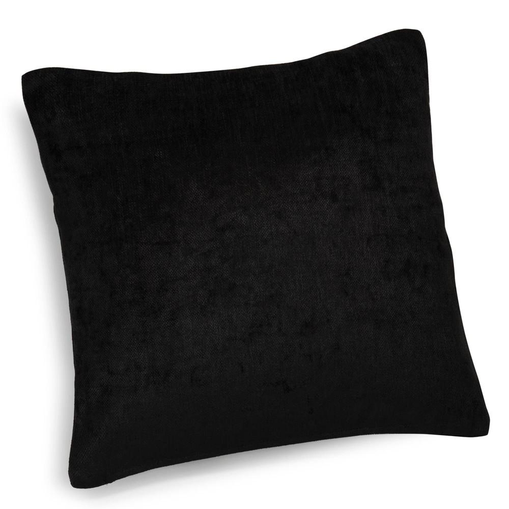 coussin en velours noir 45 x 45 cm vintage velvet belouga maisons du monde. Black Bedroom Furniture Sets. Home Design Ideas