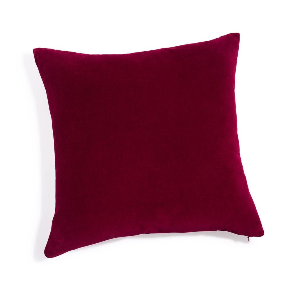 coussin en velours rouge 45 x 45 cm maisons du monde. Black Bedroom Furniture Sets. Home Design Ideas