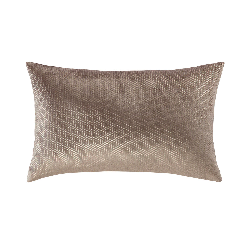 coussin en velours taupe 30 x 50 cm oridore maisons du monde. Black Bedroom Furniture Sets. Home Design Ideas
