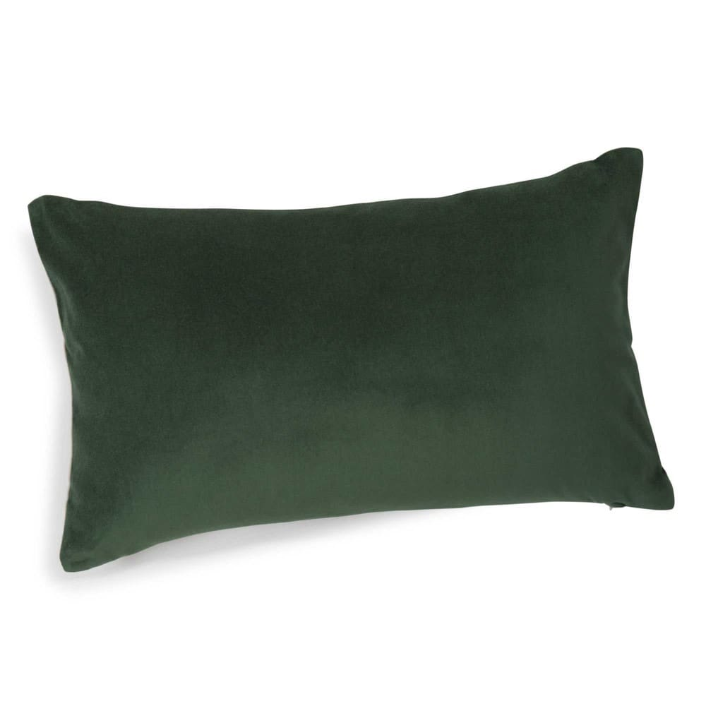 coussin en velours vert 30 x 50 cm for t maisons du monde. Black Bedroom Furniture Sets. Home Design Ideas