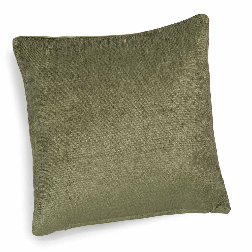 coussin en velours vert 45 x 45 cm vintage velvet liane. Black Bedroom Furniture Sets. Home Design Ideas