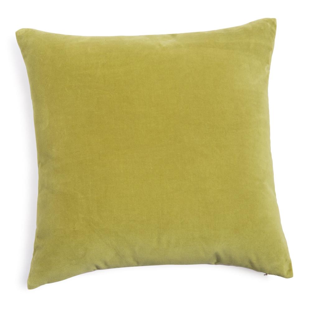 coussin en velours vert olive 45 x 45 cm maisons du monde. Black Bedroom Furniture Sets. Home Design Ideas
