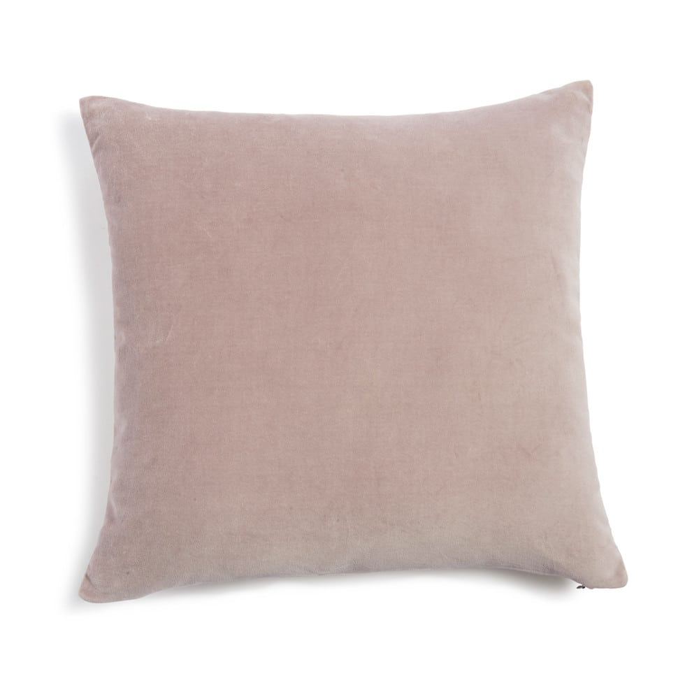 coussin en velours vieux rose 45 x 45 cm maisons du monde. Black Bedroom Furniture Sets. Home Design Ideas