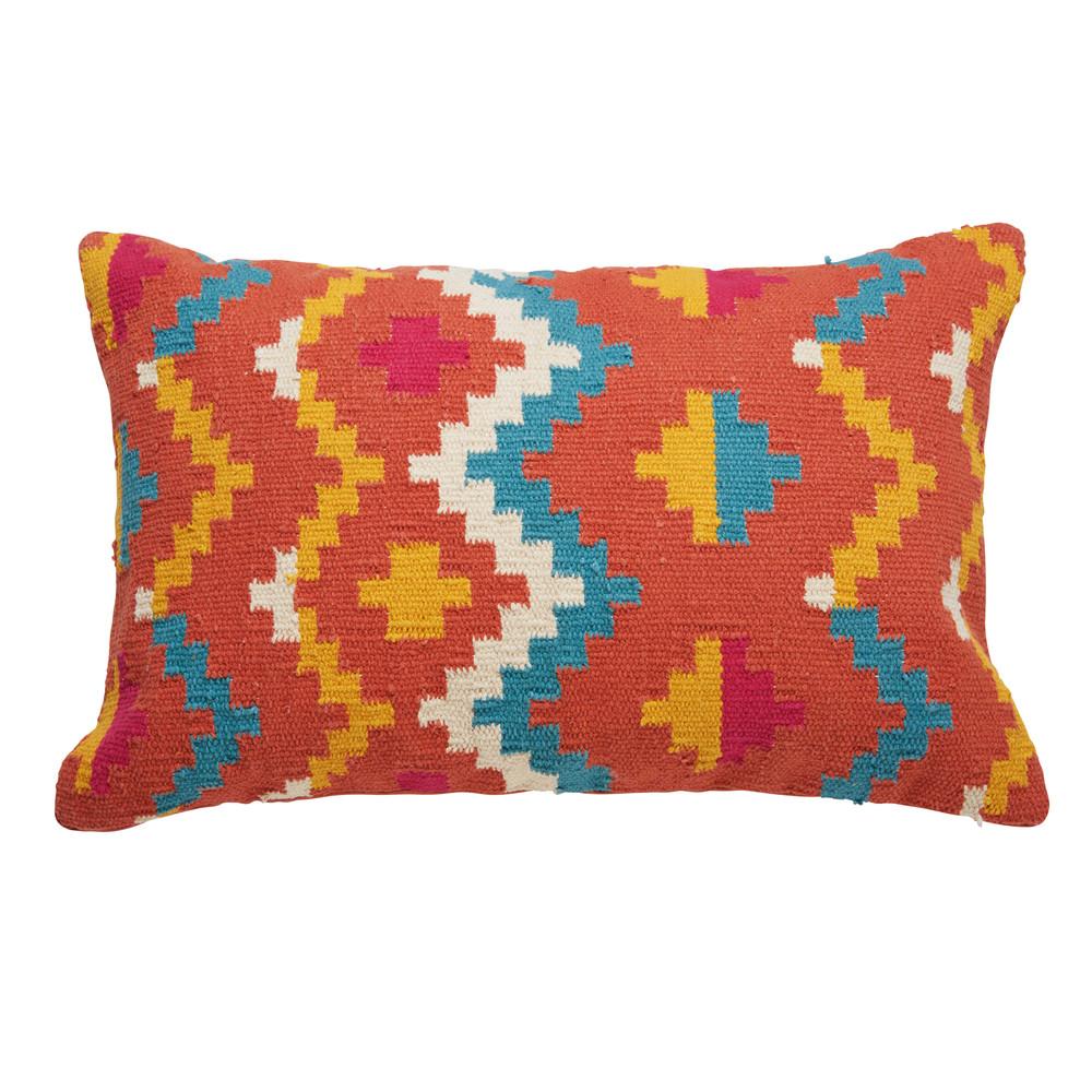 coussin ethnique en coton multicolore 40x60cm matoaka. Black Bedroom Furniture Sets. Home Design Ideas