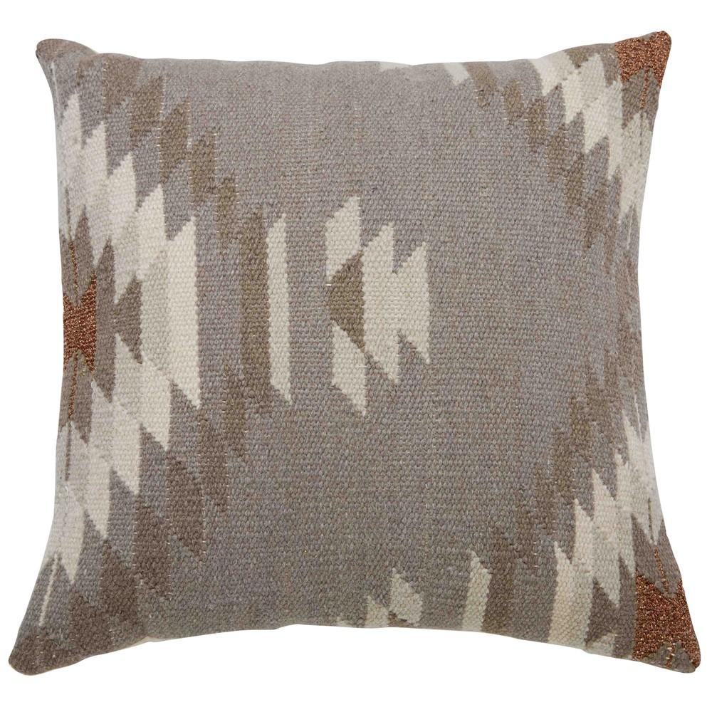 coussin ethnique en laine et coton 45x45cm logia maisons du monde. Black Bedroom Furniture Sets. Home Design Ideas