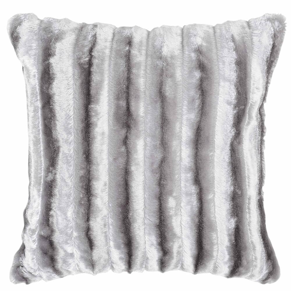 coussin fausse fourrure gris 40 x 40 cm fur maisons du monde. Black Bedroom Furniture Sets. Home Design Ideas