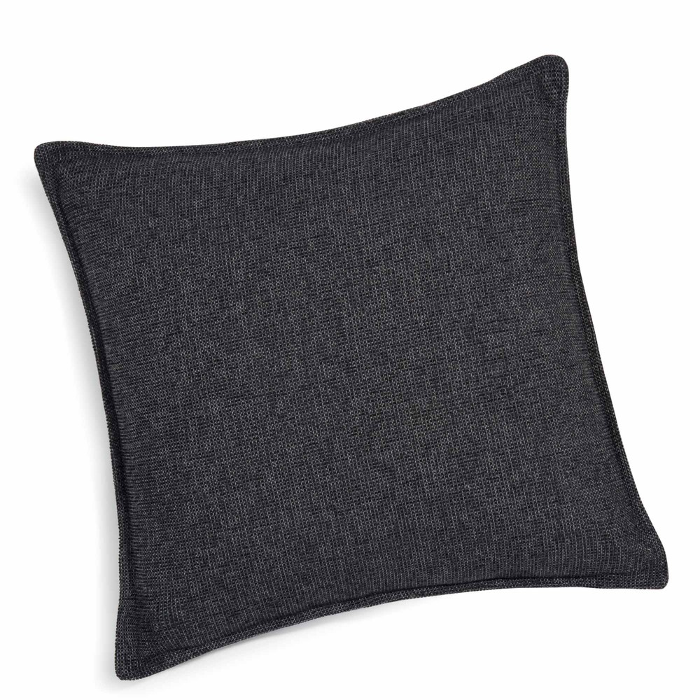 coussin gris carbone 45 x 45 cm chenille maisons du monde. Black Bedroom Furniture Sets. Home Design Ideas