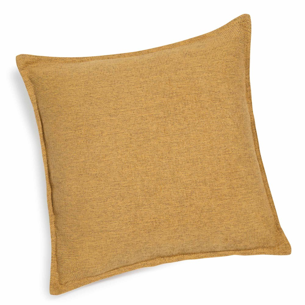 coussin jaune 45 x 45 cm chenille maisons du monde. Black Bedroom Furniture Sets. Home Design Ideas