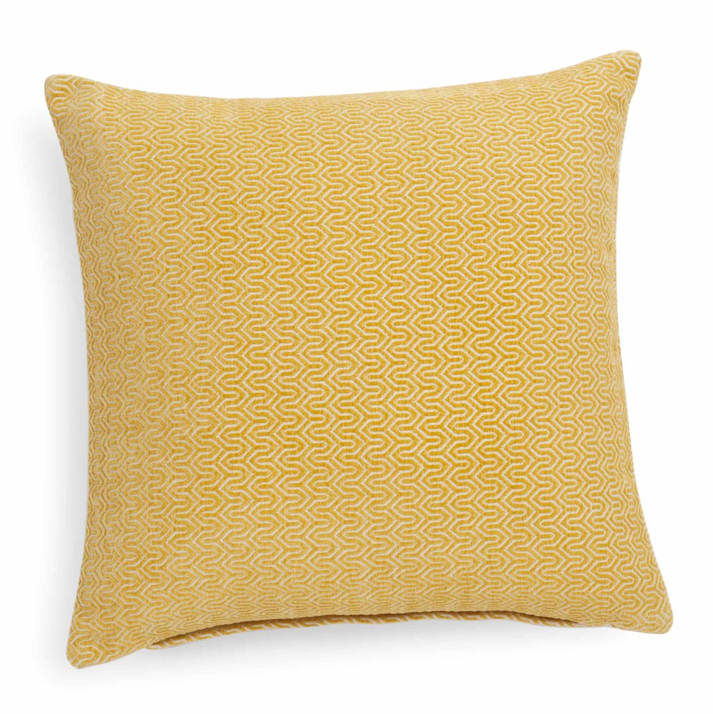 coussin jaune 45 x 45 cm jobs maisons du monde. Black Bedroom Furniture Sets. Home Design Ideas