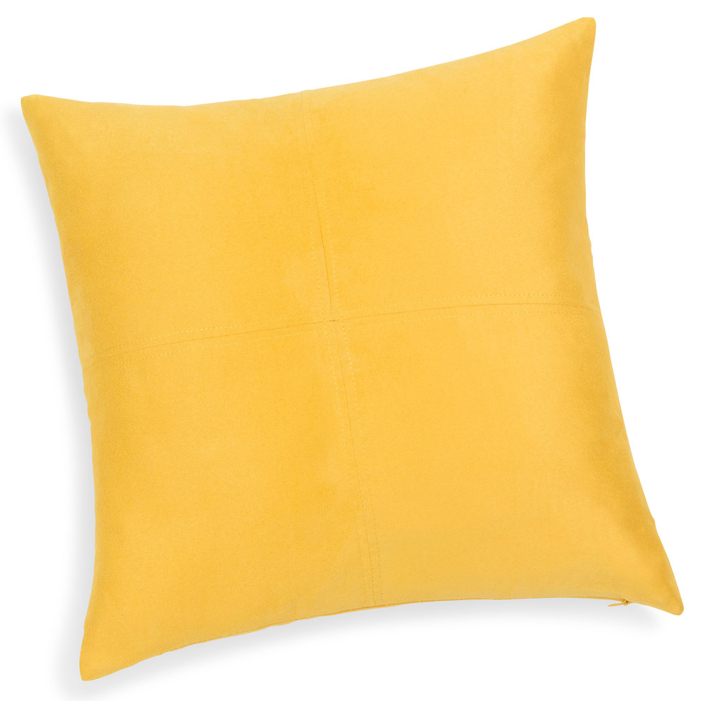 coussin jaune citron 40 x 40 cm swedine maisons du monde. Black Bedroom Furniture Sets. Home Design Ideas
