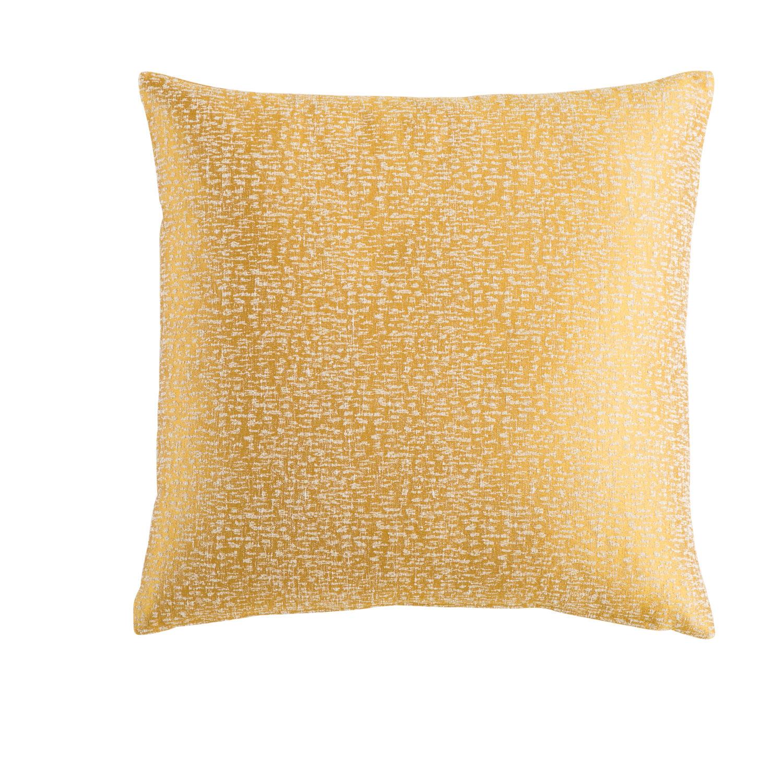 coussin jaune moutarde 45x45 madison | maisons du monde