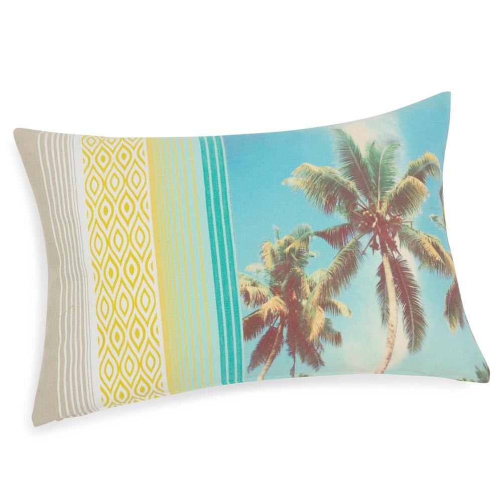 coussin motif palmier en coton 40 x 60 cm malajaya maisons du monde. Black Bedroom Furniture Sets. Home Design Ideas