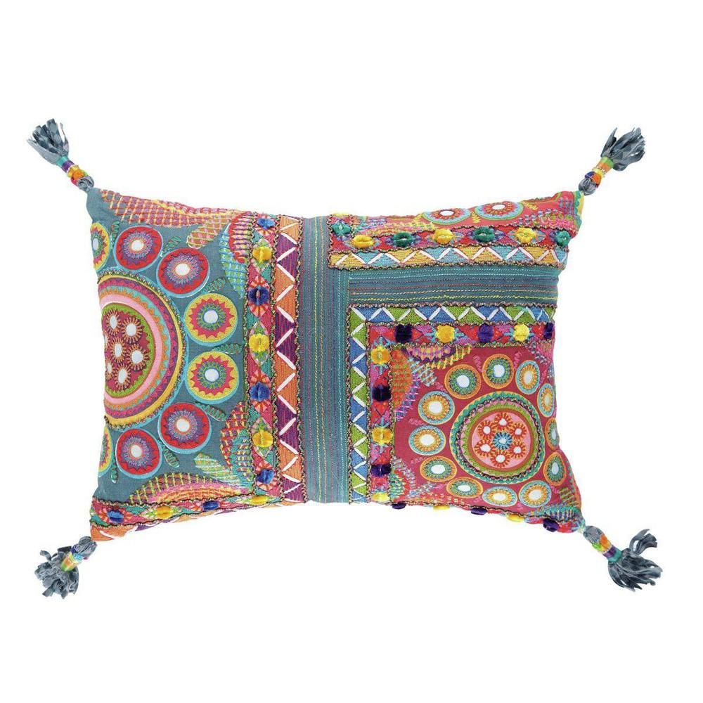 coussin multicolore cohari maisons du monde. Black Bedroom Furniture Sets. Home Design Ideas