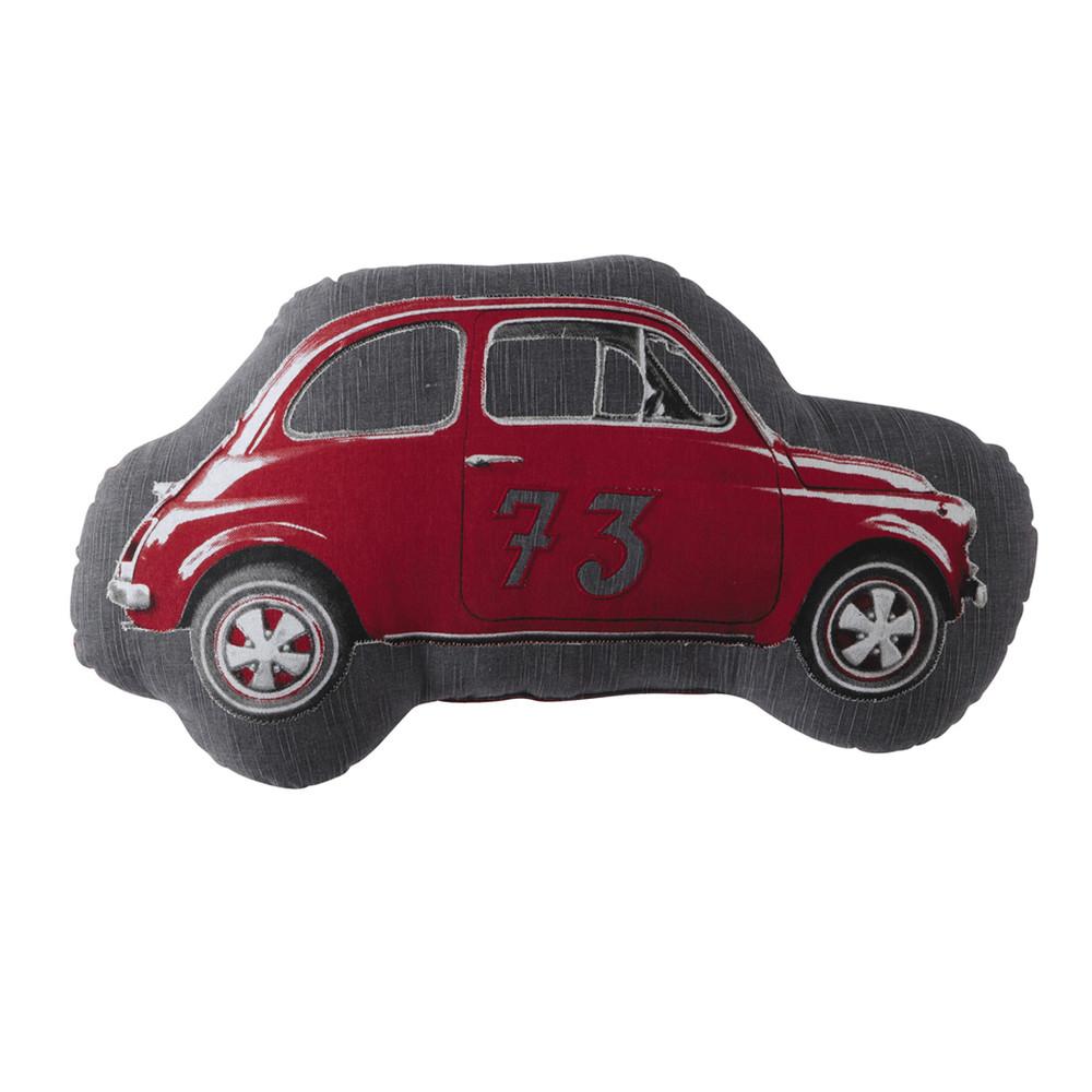 coussin voiture en coton rouge 25 x 50 cm auto maisons du monde. Black Bedroom Furniture Sets. Home Design Ideas