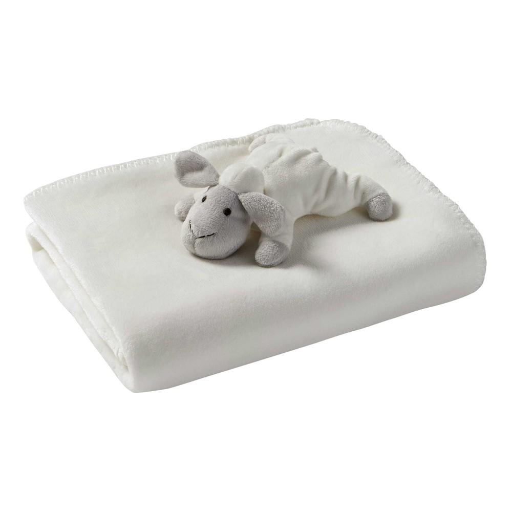 couverture b b blanc 75 x 90 cm mouton maisons du monde. Black Bedroom Furniture Sets. Home Design Ideas