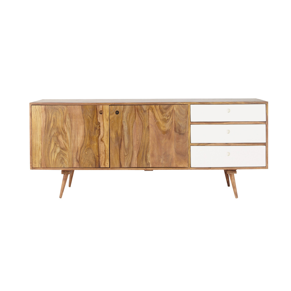 credenza bassa lunga vintage in legno di sheesham l 177 cm andersen maisons du monde. Black Bedroom Furniture Sets. Home Design Ideas